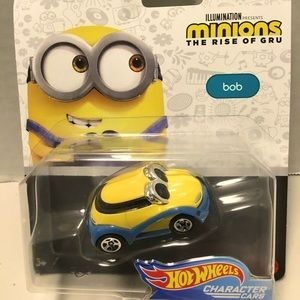 MINIONS BOB HOTWHEELS CHARACTER CARS MATTEL NWT